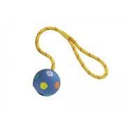 Vollgummi Ball mit Seil