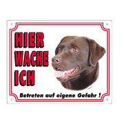 Warntafel Labrador braun